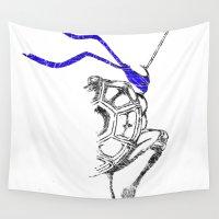 ninja Wall Tapestries featuring Ninja by Future Emperor
