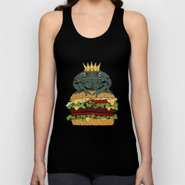 King of Burgers Green Unisex Tank Top