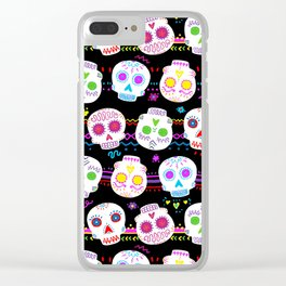 Day of the Dead Sugar Skulls Clear iPhone Case