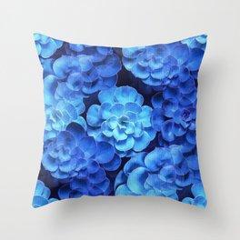 Succulent Plants In Blue Tones #decor #society6 #homedecor Throw Pillow
