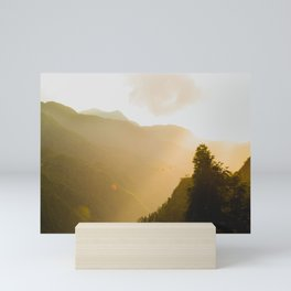 Sunny Golden Afternoon in Asia Photo  Mini Art Print