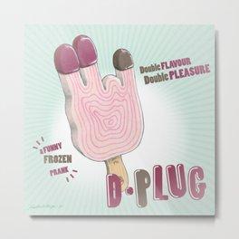 """D-Plug! (""""Nice Screams"""" series) Metal Print"""