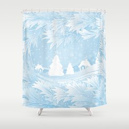 Winter background Shower Curtain