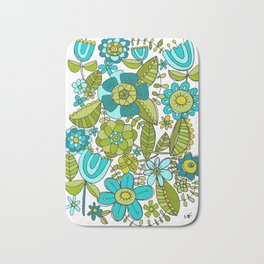 Botanical Doodles Bath Mat