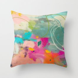 mixed abstract brush color study art 1 Throw Pillow