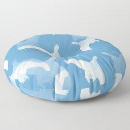 White Birds Against The Blue Sky #decor #society6 #homedecor Floor Pillow