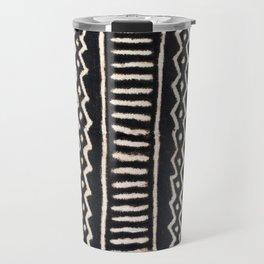 African Vintage Mali Mud Cloth Print Travel Mug