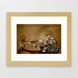Glass and Glass Framed Art Print