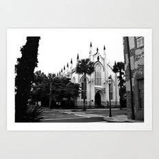 The French Protestant (Huguenot) Church Art Print