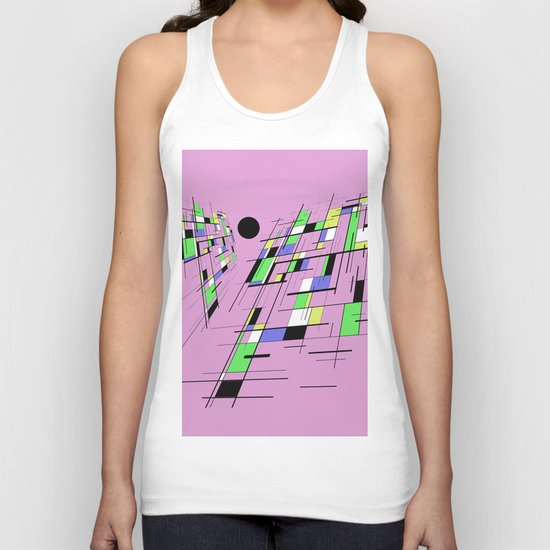 Bad perspective - Abstract, vector, geometric, 3D style artwork Unisex Tank Top