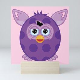 Purple Furby Mini Art Print