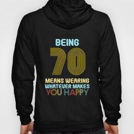70.Birthday Vintage Retro 70 Years Funny Hoody