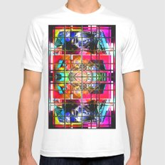 3-D-GEOMETRY AND COLOR. MEDIUM Mens Fitted Tee White