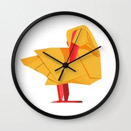 Origami Duck Wall Clock