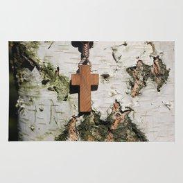 Rosary on tree Rug