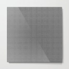 White On Black Grid Metal Print