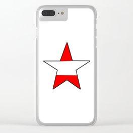 flag of austria 6 -Österreich,Austrian,Österreicher,Vienna,Salzburg,Mozart, Schoenberg Clear iPhone Case