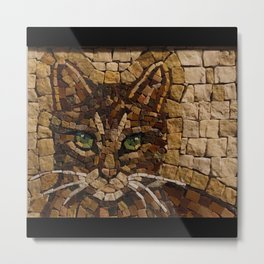 Portrait Of A Cat Made Of Stones Metal Print