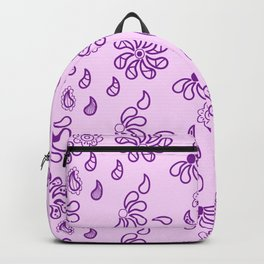 Tiny flowers pattern on the pink background Backpack
