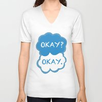 tfios V-neck T-shirts featuring TFIOS Dots by All Things M