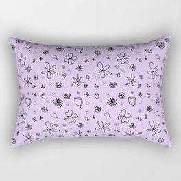 Periwinkle Flower Power Rectangular Pillow