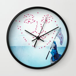 face data collecting Wall Clock