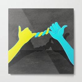 handshake agreement hook Metal Print