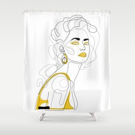 In Lemon Shower Curtain