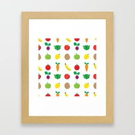 A Cute Concoction of Fruit and Vegetable. Vegan Heaven! Framed Art Print