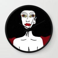 lsd Wall Clocks featuring LSD by Maria Molinari