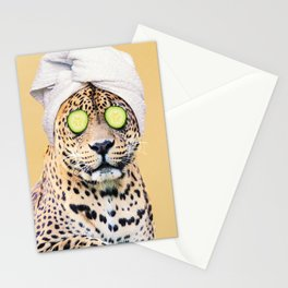Leopard in a Towel Stationery Cards