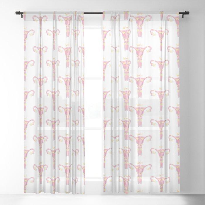Royal Uterus Pattern Sheer Curtain