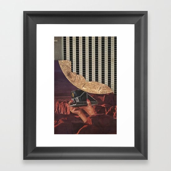 in the desert Framed Art Print