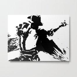 Michael Purple Graphic Metal Print