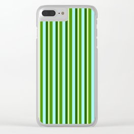 zakiaz green stripe Clear iPhone Case