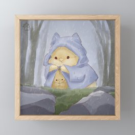 Rain in the forest Framed Mini Art Print