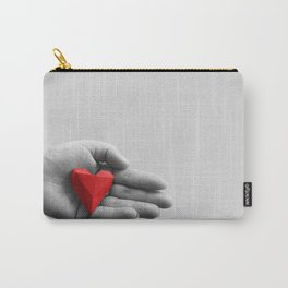 hand with red heart Carry-All Pouch