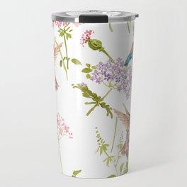 Hummingbird floral Travel Mug