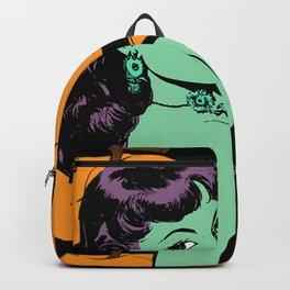 zombie retro girl black Backpack