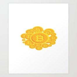 Bitcoins Art Print