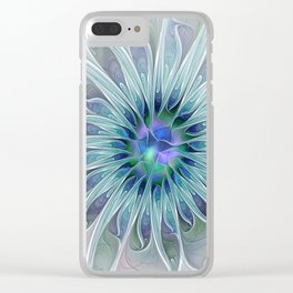 Floral Beauty, Fantasy Flower Clear iPhone Case