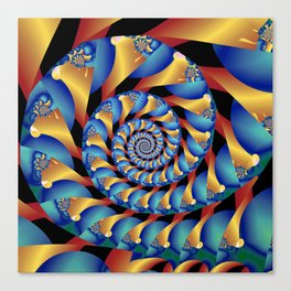 Archimedes' Blue & Gold Tangent Canvas Print