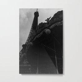 Noir Paris IX Metal Print