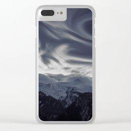 La vue des montagnes Clear iPhone Case