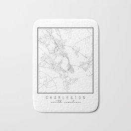 Charleston South Carolina Street Map Bath Mat