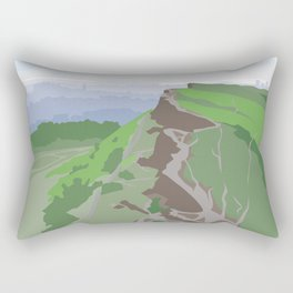 Salisbury Crags and Edinburgh from Arthur's Seat Rectangular Pillow