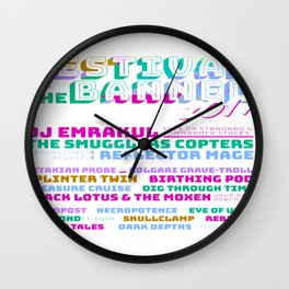 Festival of the Banned 2017 Wall Clock
