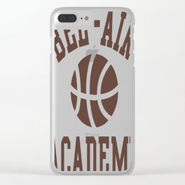 Fresh Prince Bel-Air Academy Basketball Shirt Clear iPhone Case