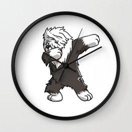 Funny Dabbing Old English Sheepdog Dog Dab Dance Wall Clock