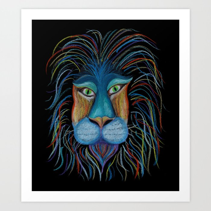 Colorful King Art Print